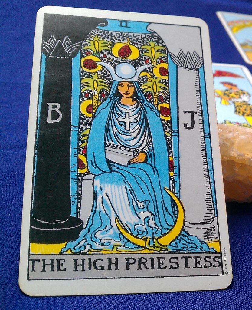 II High Priestess from the Rider Waite deck